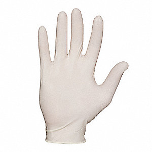 Disposable Gloves,Latex,M,Natural,PK100