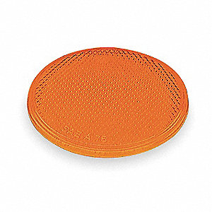 "Reflector,Round,Yellow,2"" L"