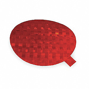 Reflective Tape, Round, Red
