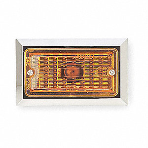 Yellow Clearance Marker Lamp, P2, Permanent, Rectangular