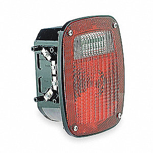 "Replacement Lamp,Square,Red,5-3/4"" L"