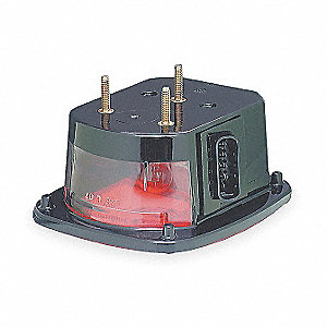 "Stop/Turn/Tail Light,Square,Red,5-3/4"" L"