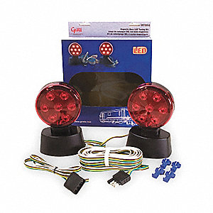 Towing Kit,Magnetic Base,LED,12 Volt