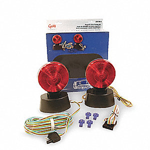 Magnetic Trailer Lighting Kit, 20' Wire Length, Wire Harness Connection, Incandescent