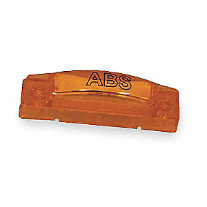Yellow Clearance Marker Lamp, P2, P3, PC, Permanent, Rectangular