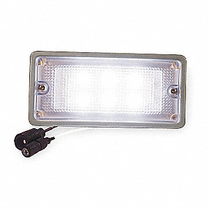 Dome Light, Rectangle, White