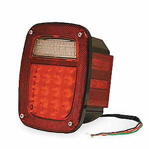 Box Lamp,LED With Sidemarker,RH,Red