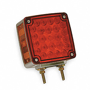 Two Sided Lamp,Side Marker,LH,Red/Yellow