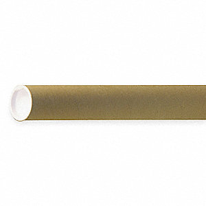 "18"" Round, Spiral Wound Paper Mailing Tube with 1-1/2"" Inside Dia., Kraft Brown&#x3b; PK25"
