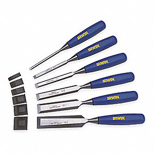 Wood Chisel Set,6 PC,1/4 To 1 In Tip
