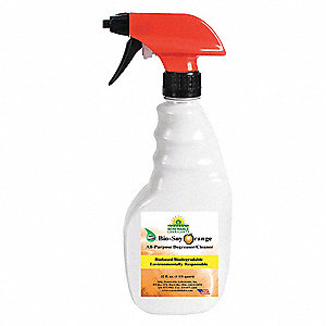 Orange Bio Soy Cleaner Degreaser, 12 oz. Trigger Spray Bottle