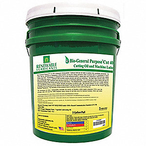 Liquid Cutting Oil, Base Oil : Vegetable Oil, 5 gal. Pail