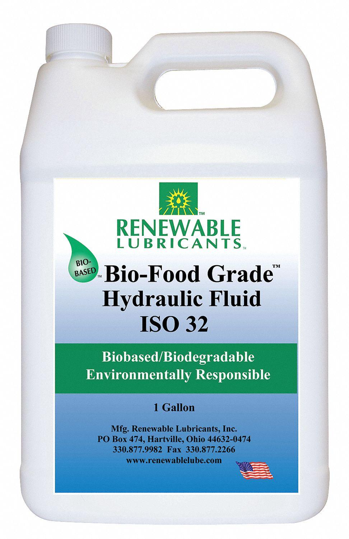 Vegetable Oil Hydraulic Oil, 1 gal  Jug, ISO Viscosity Grade : 32