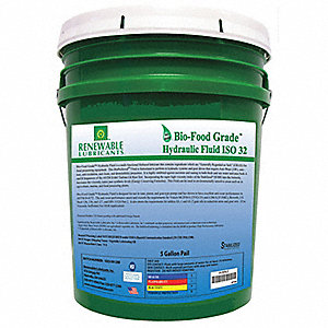 Bio-Food Grade Hydraulic Fluid,5 Gal,32