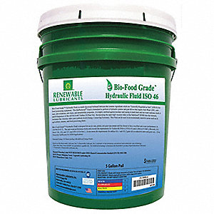 Bio-Food Grade Hydraulic Fluid, Food Grade Hydraulic Oil, 5 gal. Container Size