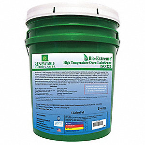 Oven & Chain Lubricant, -28°F to 2000 Degrees F, Graphite, 5 gal. Pail