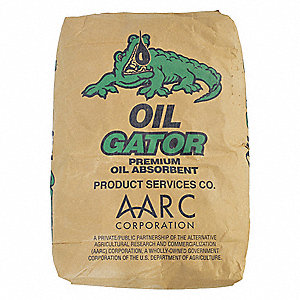 Oil-Based Liquids Natural Cellulosic Fibers Loose Absorbent, Absorbs 2 to 6 gal., 30 lb. Bag