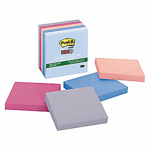 Recycled Super Sticky Notes,3x3,PK5