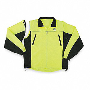 Jacket,No Insulated,Lime/Black,XL