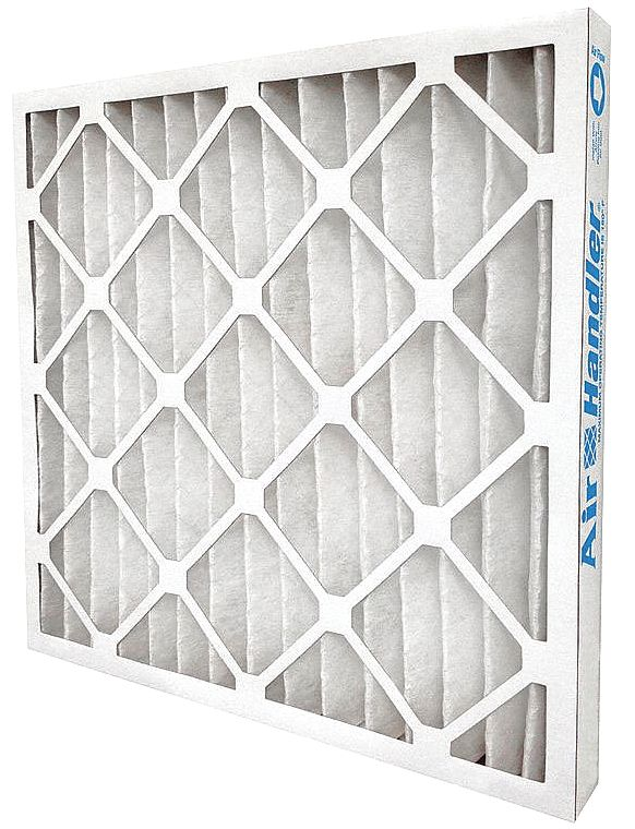 LEED/Green Pleated Air Filter, 24x24x2, MERV 13, High Capacity, Synthetic, Beverage Board