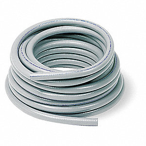 "Gray Flexible Metallic Liquid Tight Conduit, LA Series, 3/4"" Conduit Size, 100 ft. Length"