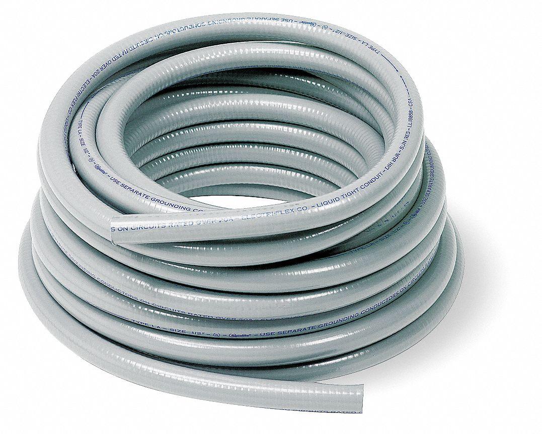 Electri Flex La Series Flexible Metallic Liquid Tight Conduit 1 X 100 Ft 5 1 2 Bend Gray 5yh58 La 13x100 Gry Grainger