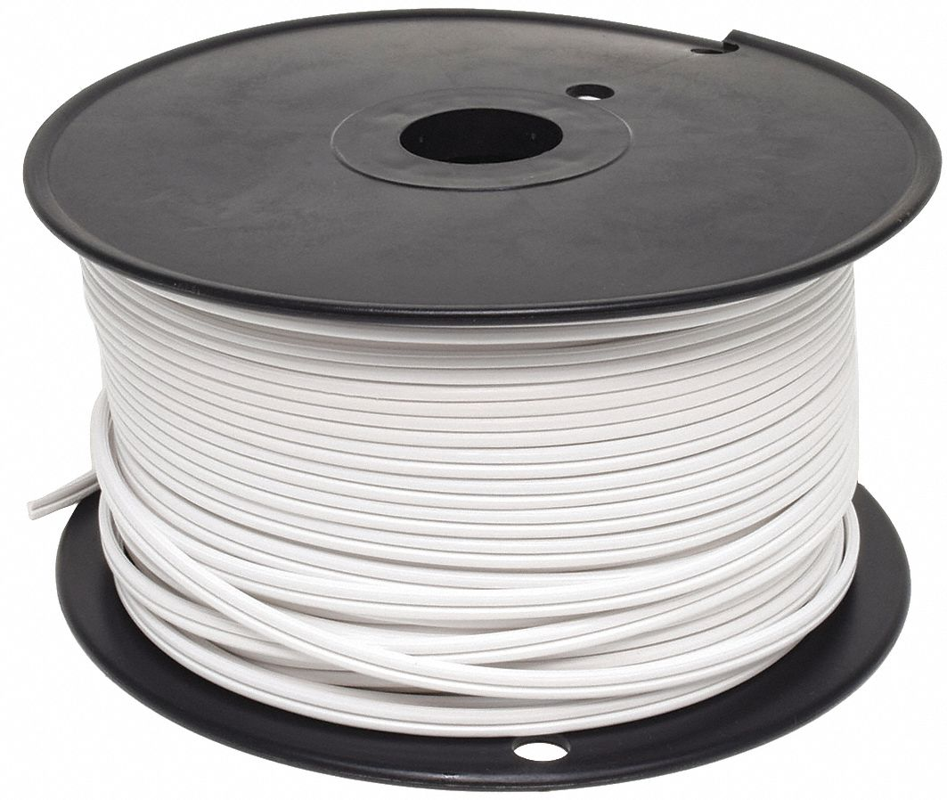 GRAINGER APPROVED 18 AWG Wire Size Lamp Cord, White - 2W374|E3680 ...