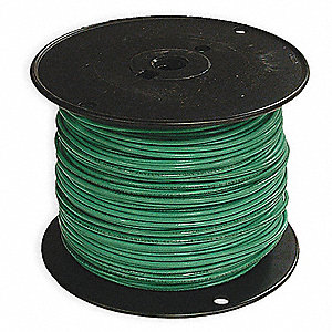 Stranded THHN Building Wire, Green, 500 ft. 12 AWG