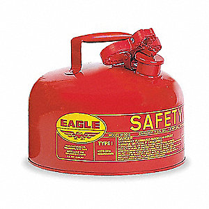2 gal. Type I Safety Can, Used For Flammables, Red&#x3b; Includes Squeeze Handle, Pour Spout, Flame Arres