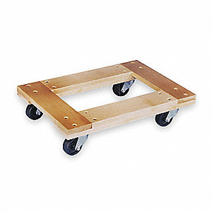 "36""L x 24""W x 6-1/4""H Natural General Purpose Dolly, 1000 lb. Load Capacity"