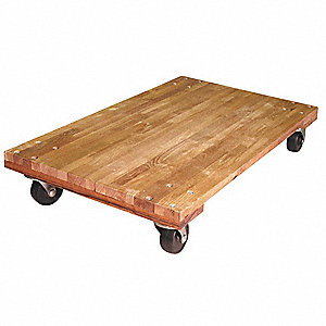 "30""L x 18""W x 5-1/4""H Natural General Purpose Dolly, 1000 lb. Load Capacity"