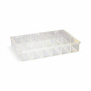 BOX PLASTIC PARTS 12 COMPARTMENTS