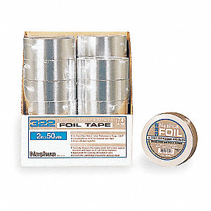 Foil Tape with Liner,72mm x 46m,Silver