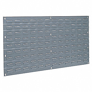 "35-3/4"" x 5/16"" x 19"" Louvered Panel with 160 lb. Load Capacity, Gray"
