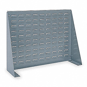 "Louvered Bench Rack with 0 Bins, 27-15/16""W x 8-9/16""D x 19-9/16""H, Number of Sides: 1"