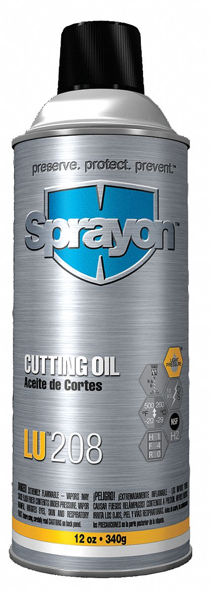 Cutting Oil,  Container Size 12 oz,  Aerosol,  Light Amber