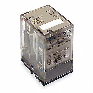Plug In Relay, 14 Pins, Square Base Type, 5A @ 250VAC/30VDC Contact Rating, 24VDC Coil Volts