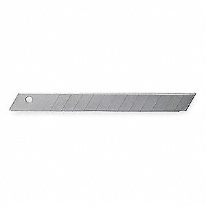"3-1/4"" x 9mm Carbon Steel Snap-Off Blade; PK10"