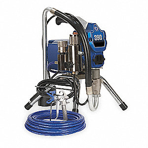 Commercial Airless Paint Sprayer, 5/8 HP, 0.47 gpm Flow Rate, Operating Pressure: 3300 psi