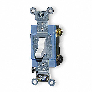 Illuminated Wall Switch, Switch Type: 3-Way, Switch Function: Maintained, Style: Toggle