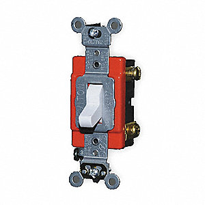 Illuminated Wall Switch, Switch Type: 1-Pole, Switch Function: Maintained, Style: Toggle