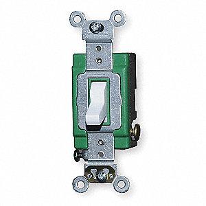 WALL SWITCH,3-WAY,30 A,WHITE,INDUST