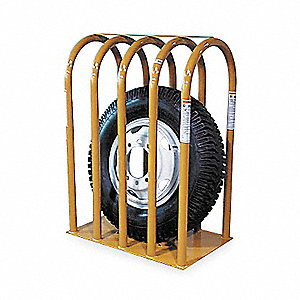 "20-1/2"" x 43-1/2"" 5-Bar Tire Inflation Cage"