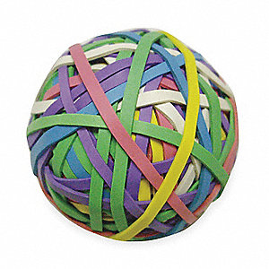 Rubber Band Ball, #30, 3-3/16x1/8in, Asst