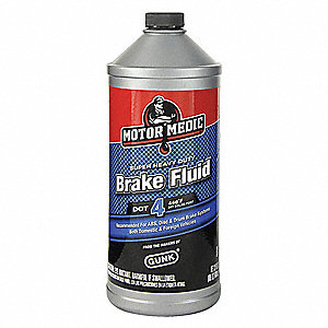 Brake Fluid,DOT 4,32 Oz,Yellow