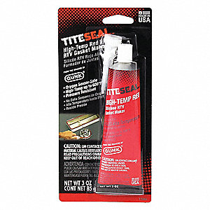 RTV Silicone Sealant,3 oz Tube,Red