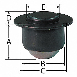 "-"" x -"" x 1-7/32"" Black Oxide Steel Countersunk Flange with 200 Lb. Working Load Limit"