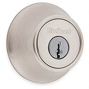 Heavy-Duty Satin Chrome QDB2-Series Deadbolt, Single-Cylinder, Different