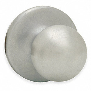 Privacy Knob Lockset, Satin Nickel Finish, Light Duty