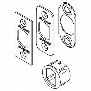 Plain Latch Kit,Satin Nickel